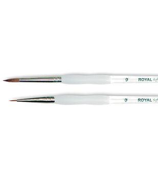Royal Brush-Soft-Grip Pure Sable Detail & Round Brush-Size 0