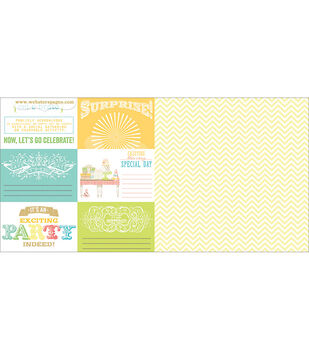 Webster's Pages Party Time! A Surprise! Double-Sided Cardstock