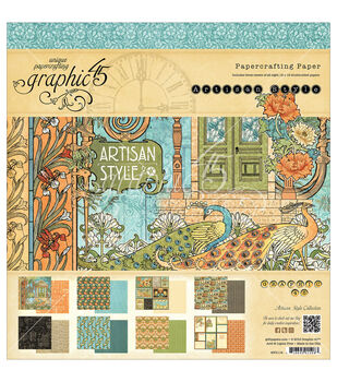 Graphic 45 Artisan Style Paper Pad 12''x12''