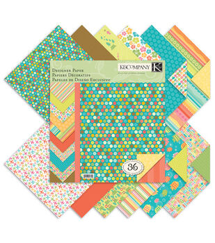 K &Company Summer Travel Double-Sided Paper Pad 12''x12''