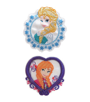 Wrights Disney Elsa & Anna Frozen Iron-On Appliques