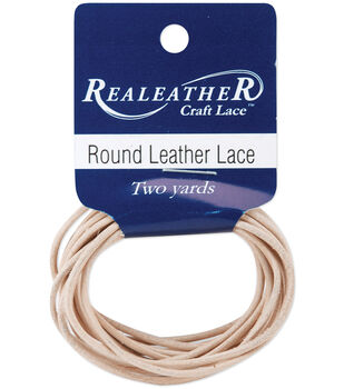Silver Creek Leather Co. Round Lace 2 mmx2 Yards-Natural
