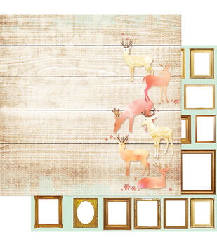 Webster's Pages All That Glitters Deer Ones Double-Sided Cardstock