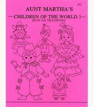 Aunt Martha Iron On Transfer Pattern Books Children Of The World