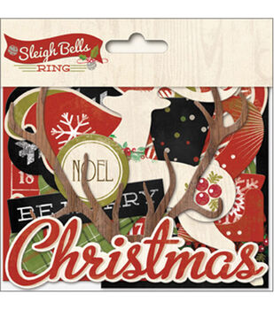 Sleigh Bells Ring Mixed Bag Cardstock Die-Cuts -