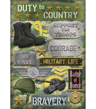 Karen Foster Cardstock Stickers-Military Life