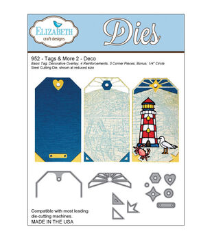 Elizabeth Craft Designs Tags & More Tag 2 Dies