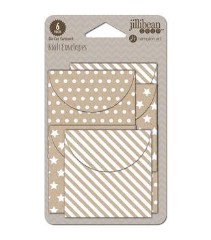 "Kraft Mini Envelopes 2.25""X2.25"" 6/Pkg-"
