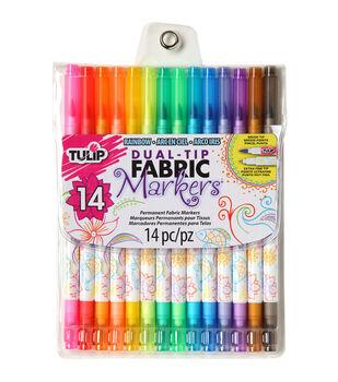Tulip® Dual-Tip Fabric Markers 14PK