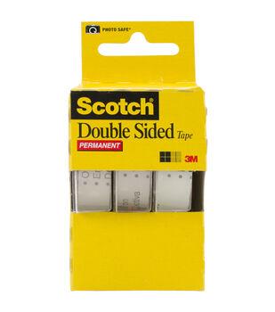 Scotch 3Pk Doublesided Tape 1/2 X 250