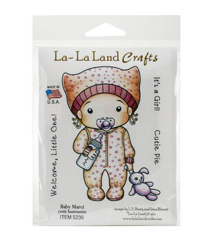 La-La Land Crafts Baby Marci Cling Mount Rubber Stamps