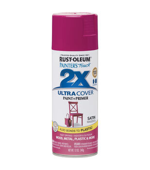 Painter's Touch Ultra Cover Satin Aerosol Paint 12oz-Magenta
