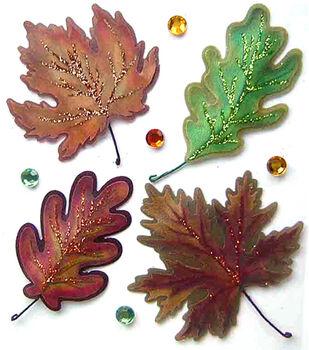 Jolee's Boutique Dimensional Stickers-Vellum Leaves