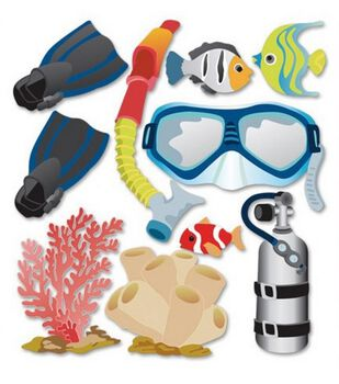Jolee's Boutique Themed Ornate Stickers-Snorkeling