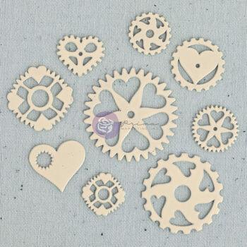 Prima Marketing Junkyard Findings Metal Embellishments Heart Gears