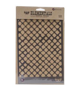 "Prima Elementals Stencil 6.5""X10.25""-Netting"