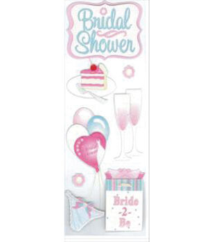 EK Success Dimensional Sticker-Bridal Shower