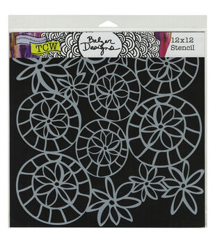 Crafter's Workshop Striped Flower Circle Template 12''x12''