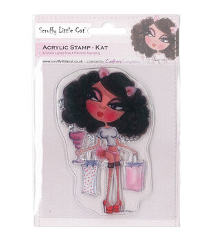Crafter's Companion Scruffy Little Cat Kat Clear Stamp