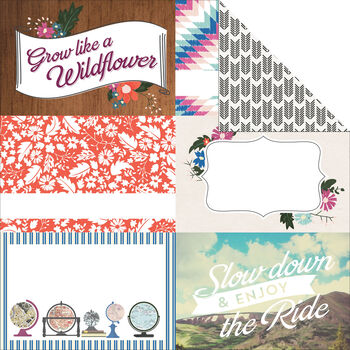 Carta Bella Wildflower Double-Sided Cardstock Journaling Cards 4''x6''