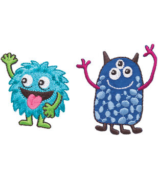 Simplicity Iron-On Appliques 2/Pkg-Friendly Monsters