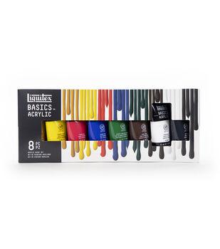 Liquitex Basics Acrylic Paint 75ml 8/Pkg-Assorted Colors