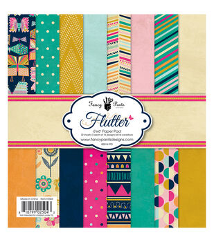 Fancy Pants Flutter Designs Paper Pad 6''x6''