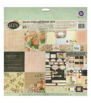 """Something Blue Collection Kit 12""""X12"""" 20/Sheets-"""