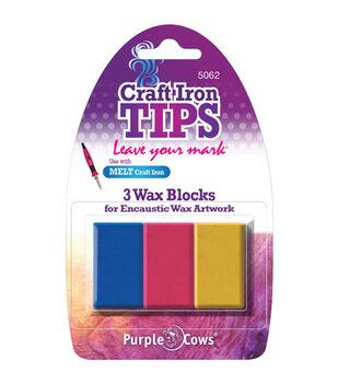 Craft Iron Encaustic Wax Refill 3/Pkg-Red/Yellow/Blue