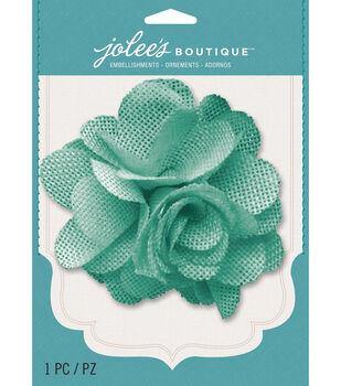 Jolee's Boutique - Mint Burlap Large flower