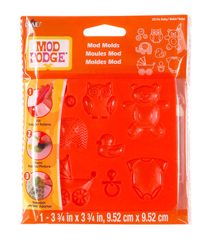 Plaid Mod Podge Baby Mod Molds