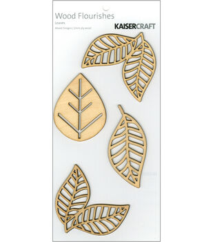 Kaisercraft Wood Flourishes-Leaves