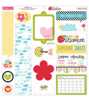 Bella Blvd Summer Squeeze Just Write Journaling Cardstock Stickers