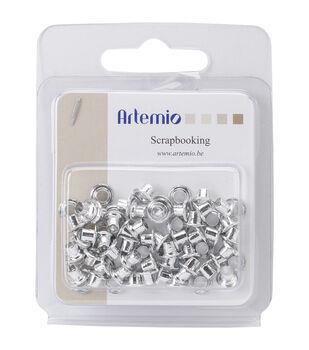 "Artemio .32"" Eyelets 64/Pkg-Silver"