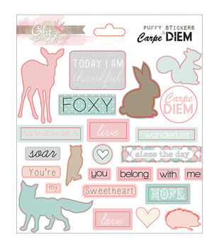 Glitz Design Carpe Diem Puffy Word Stickers