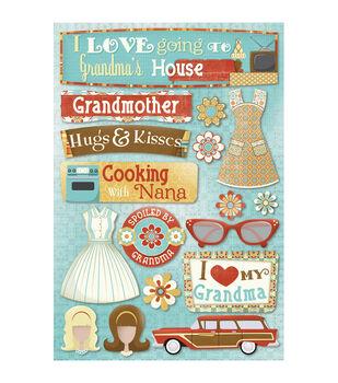 "Grandma Cardstock Stickers 5.5""X9""-Classic"