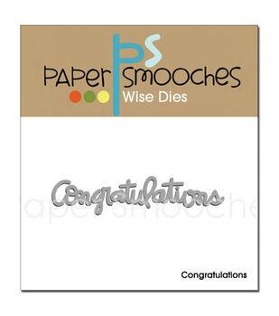 Paper Smooches Die-Congratulations