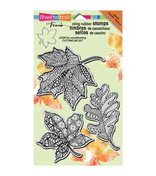 "Stampendous Halloween Cling Rubber Stamp 4""X6"" Sheet-Penpattern Leaves"