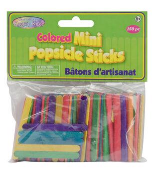 "Mini Popsicle Sticks-Colored 2-1/8"" 150/Pkg"
