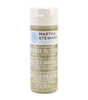 Martha Stewart Coarse Glitter Acrylic Craft Paint 2 Ounces-Florentine Gold