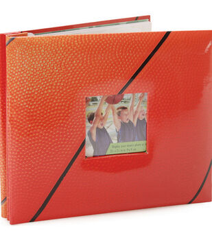 8''x8'' Postbound Album-Basketball