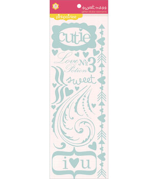 Pink Paislee Glitter Stickers-Elements-Sweetness