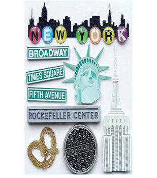 EK Success Dimensional Stickers-New York