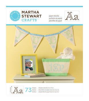 "Martha Stewart Large Paper Stencils 9""X7.5"" 36 Sheets/Pkg-Ornate Alphabet 73 Designs"