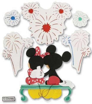 Disney Dimensional Vacation Stickers-Fireworks Mickey