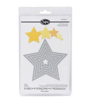 Sizzix Framelits Dies 5/Pkg-Stars