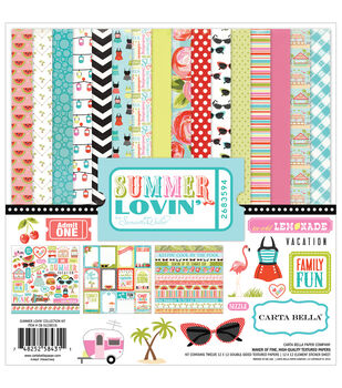 "Carta Bella Collection Kit 12""X12""-Summer Lovin'"
