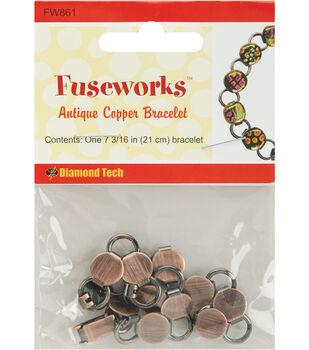 "Diamond Tech Crafts Fuseworks Findings-Copper Link Bracelet 7-3/16"""