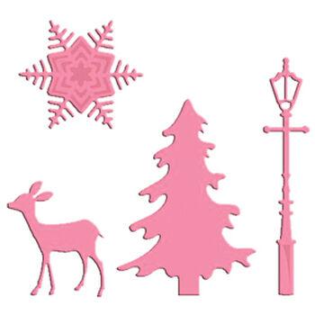 Marianne Designs Collectables Dies Christmas Village Decoration