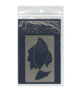 Stampendous Dreamweaver Metal Open Fish Stencil